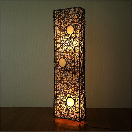 Asian Lighting Stand Light Floor Stand Lighting Flouritratan Long Japanese  Style Modern Living Stylish Interior Floor