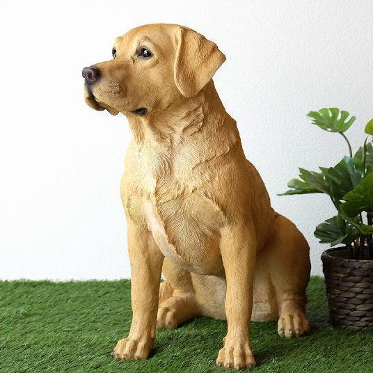 犬 置物 オブジェ アニマル ドッグオーナメント 玄関 エントランス ガーデンオーナメント インテリア イヌ いぬ ペット 動物 オーナメント ラブラドールレトリバー