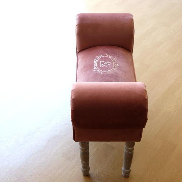 ベンチ スツール チェア ソファ クッション 布 モケット生地 おしゃれ かわいい 椅子 玄関 リビング 腰掛け コンパクト スリム ベンチソファー エレガント ヨーロピアン ヨーロッパ クラシック アンティーク ベンチチェアー ソファベンチ スリムなスツールベンチ F