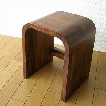 スツール 木製 おしゃれ 入れ子 コの字型 玄関椅子 腰掛け ベッド ソファ サイドテーブル 花台 天然木 無垢材 角丸 アンティーク ナチュラル シンプル ネストテーブル ウッドカーブネストスツール S