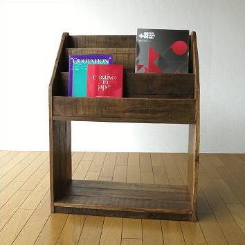 Storage Magazine Newspaper Bookshelf Corrugated Book Rack Antique Bookcase