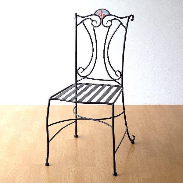 ガーデンチェア アイアン おしゃれ エクステリア 屋外 椅子 チェアー 一人掛け クラシック ヨーロピアン ベランダ テラス バルコニー モザイクチェアー フィオーレ