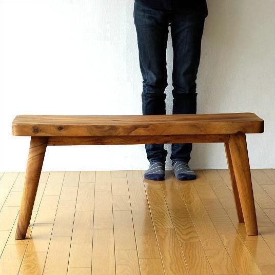 木製ベンチ 長椅子 背もたれなし リビング インテリア デザイン 無垢材 シンプル おしゃれ 木のベンチ 玄関 椅子 チェア ウッドベンチ カーブ