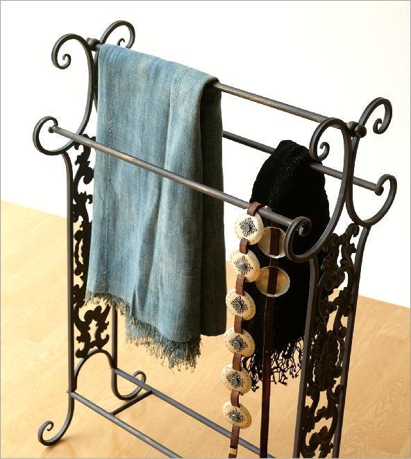 キッチン:g-6g4083k4 真鍮 洗面所 アイアン タオルハンガー おしゃれ タオルかけ タオル掛け アンティーク トイレ