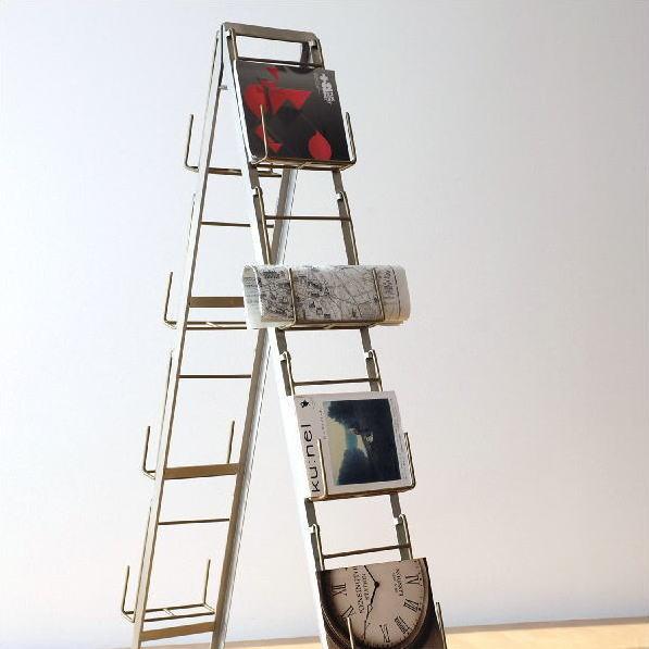 マガジンラック おしゃれ アイアン マガジンスタンド 折りたたみ インテリア モダン デザイン 新聞 雑誌 パンフレット 収納 スタンド リビング ディスプレイ 見せる収納 アイアンフォールディングスタンド