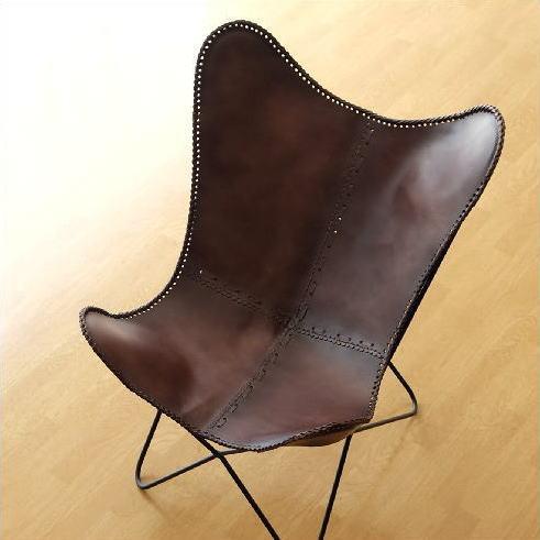 レザーチェア 本革 アイアン アンティーク レトロ 革製 椅子 イス レザーチェアー おしゃれ シンプル かっこいい インテリア ディスプレイ スタイリッシュ ヴィンテージ デザイン 革張り 背もたれ モダン リビングチェア レザーバタフライチェアー