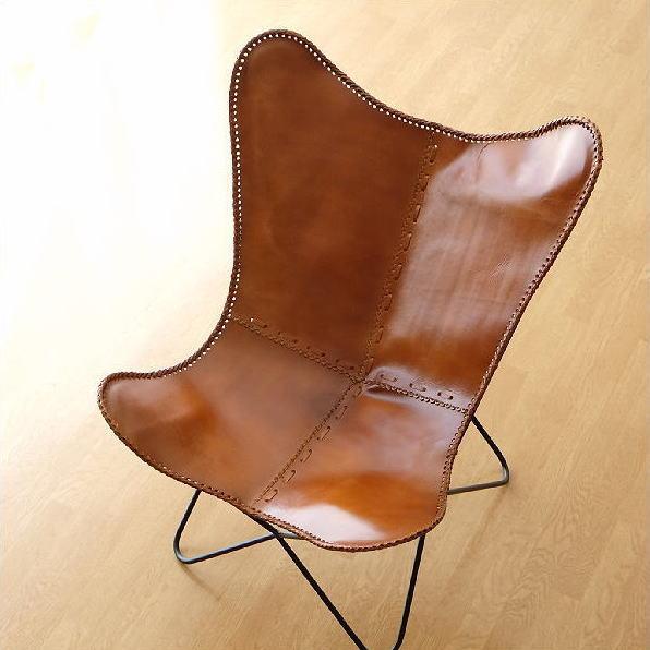 レザーチェア 本革 アイアン アンティーク レトロ 革製 椅子 イス レザーチェアー おしゃれ シンプル かっこいい インテリア ディスプレイ スタイリッシュ ヴィンテージ デザイン 革張り 背もたれ モダン リビングチェア レザーバタフライチェアB