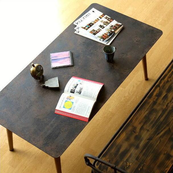 ローテーブル アイアン 鉄製 木製 アンティーク シンプル レトロ ヴィンテージ ビンテージ ソファテーブル リビングテーブル センターテーブル コーヒーテーブル かっこいい おしゃれ 鉄板 幅120 奥行60 高さ47 シャビーなアイアンとウッドのローテーブル 120