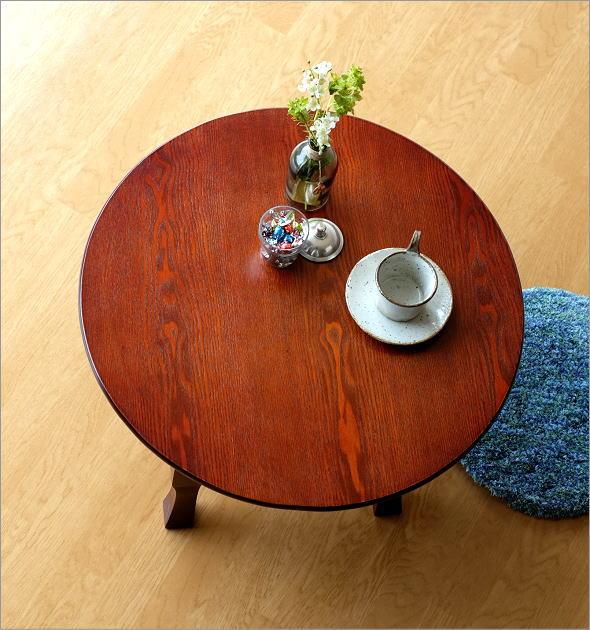 ちゃぶ台 円卓 60cm おしゃれ 和 丸テーブル 和風 インテリア カフェ 和室 丸型 丸い 円形 コンパクト 座卓 ローテーブル 昭和レトロ 木製 木目 折りたたみ ラウンドテーブル ちゃぶ台 60cm