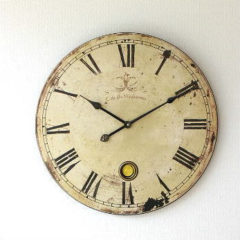 Large Wall Clock Retro Pendulum Shabby Antique Clocks Design