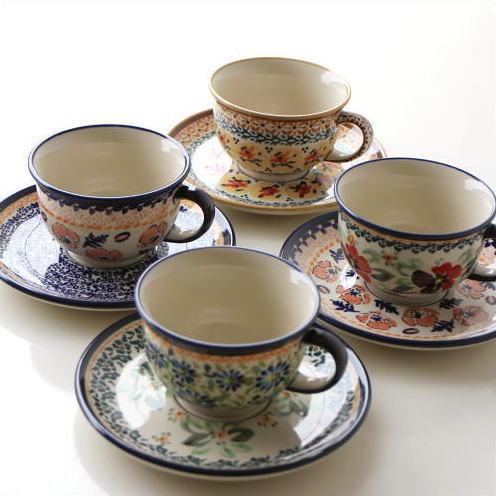 Cute cute Cup \u0026&; Saucer Poland Dinnerware Poland pottery Polish pottery Polish Pottery Cup \u0026& ... & hakusan   Rakuten Global Market: Cute cute Cup \u0026amp; Saucer Poland ...