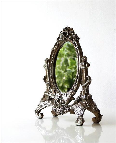 Tabletop Mirror Antique Rococo Tabletop Mirror Antique Table Mirror Compact  Mirror Elegant Classic Tabletop Mirror Stand