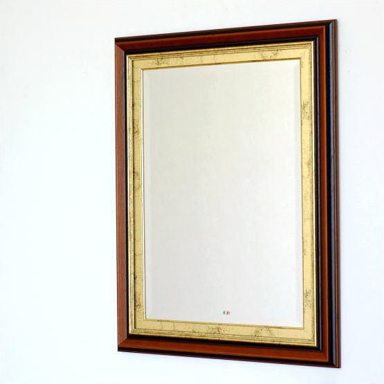 鏡 壁掛けミラー ウォールミラー アンティーク おしゃれ イタリア製 ビッグなスクエアミラー