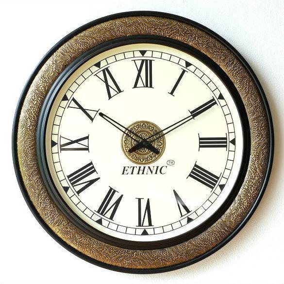 壁掛け時計 掛け時計 掛時計 壁掛時計 おしゃれ アンティーク 大きい 真鍮飾りのビックウォールクロック
