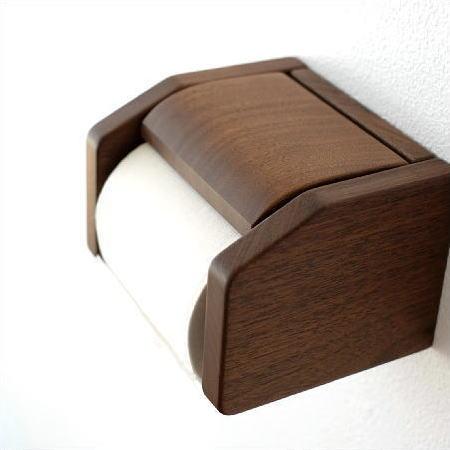 トイレットペーパーホルダー 木製 ウッド おしゃれ ワンタッチ式 シンプル デザイン ナチュラル 和風 日本製 ナラ無垢材 天然木 手作り ウッドペーパーホルダー B