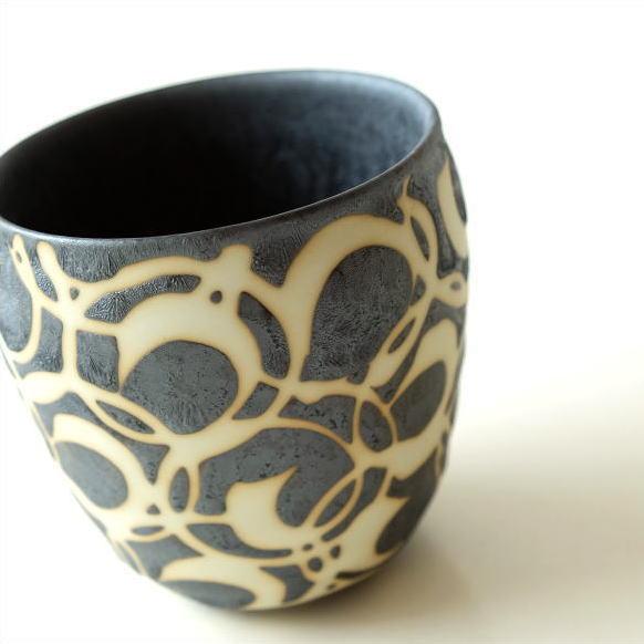 ロックカップ 初回限定 抜き巻紋 ロックグラス 焼酎グラス おしゃれ 有田焼 冷酒 コップ 上等 湯飲み 陶器