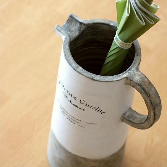 傘立て 陶器 おしゃれ コンパクト かわいい 陶器の傘たて ピッチャー