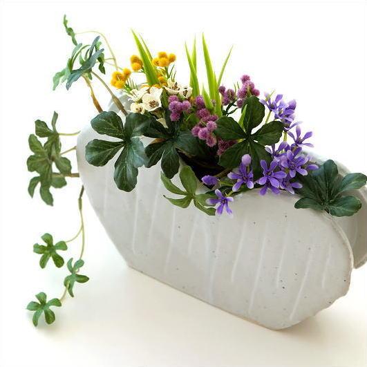 Hakusan Vases Pottery Flower Vase Jiki Floral Bud Vase Vase Flower