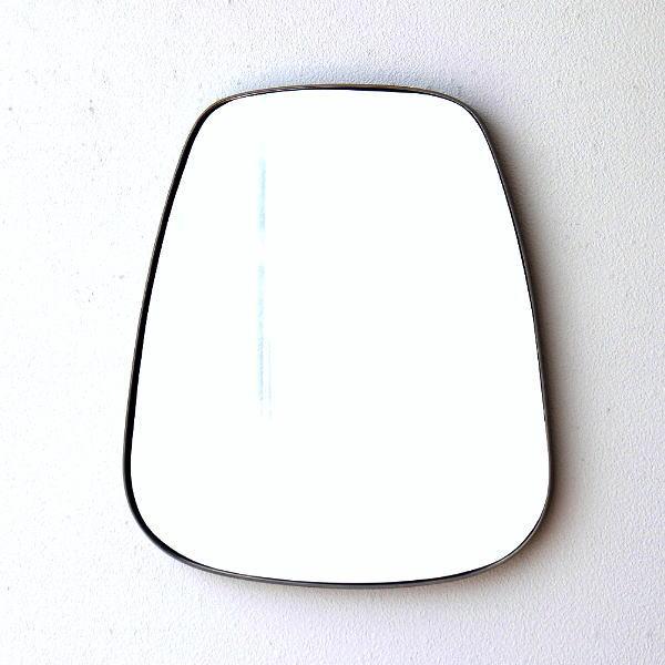 鏡 壁掛けミラー アンティーク おしゃれ ウォールミラー シンプル スタイリッシュ モダン 丸み デザイン オーバル壁掛ミラー