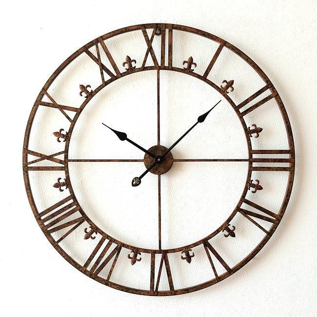 壁掛け時計 壁掛時計 掛時計 掛け時計 大きな掛け時計 アイアンダイヤル