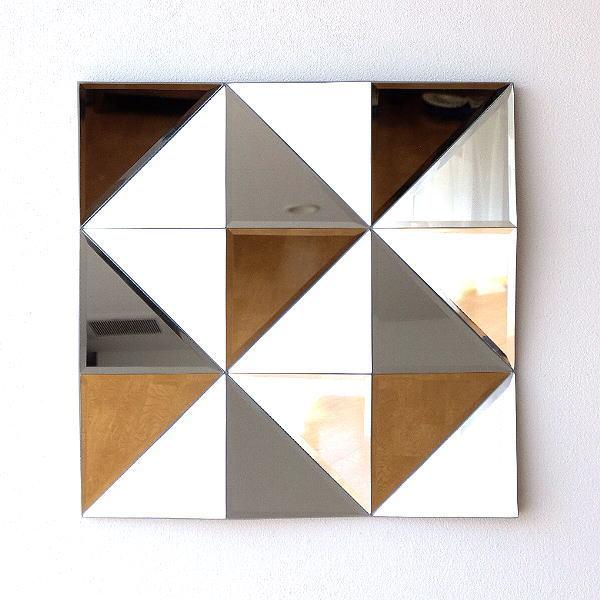 壁飾り ミラー 鏡 インテリア 壁掛け おしゃれ モダン シンプル ウォールデコ アートパネル ウォールアート 壁面 装飾 ディスプレイ スタイリッシュ エレガント 60×60cm 正方形 アートスペースミラー