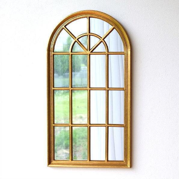 鏡 壁掛けミラー 壁飾り おしゃれ アンティークゴールド エレガント ウォールミラー 天丸形 クラシック ヨーロピアン 壁掛け インテリア ウォールディスプレイ ウィンドースタイルミラー