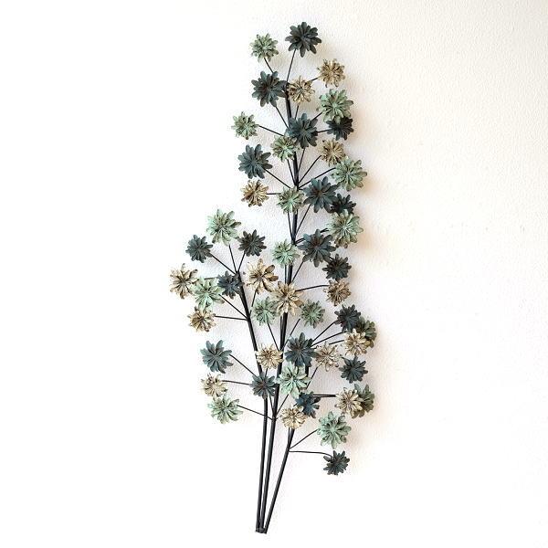 壁飾り アイアン 壁掛け インテリア アートパネル ウォールデコ 壁面 装飾 ディスプレイ おしゃれ アンティーク 花 植物 アイアンの壁飾り シャビーフラワー