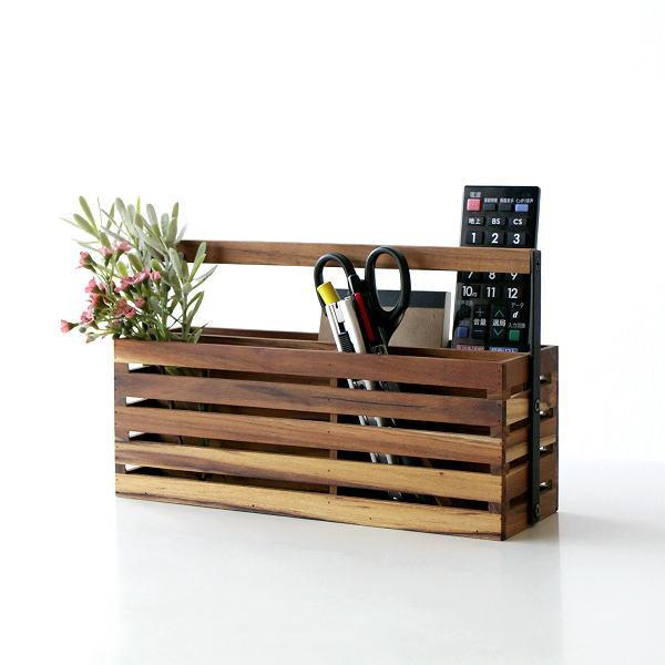 アイアンとウッドのツールボックス 04 小物入れ 木製 チーク アイアン おしゃれ 春の新作続々 リモコンラック 小物整理 収納 整理ボックス ラック 卓上 新作 A4