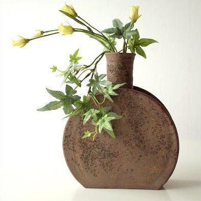 Hakusan Vase Pottery Vase Bud Vase Jiki Made In Japan Iga Wind