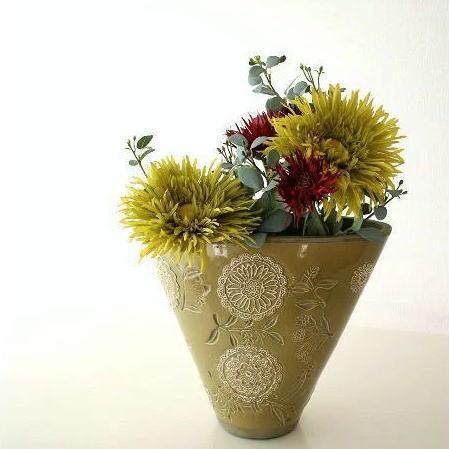 Hakusan Great Big Flower Vases Ceramic Vases Based Decoration