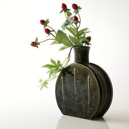 Hakusan Rakuten Global Market Vases Pottery Flower Vase Jiki