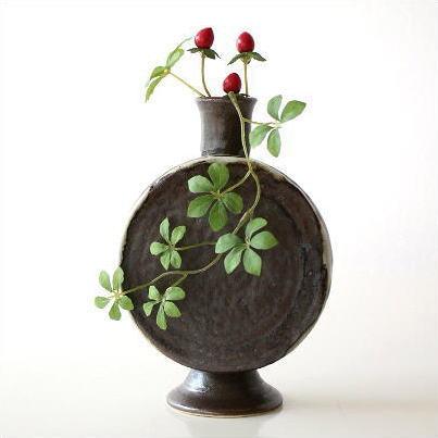 Hakusan Vases Pottery Flower Vase Jiki Flower Bud Vase Vase Flower