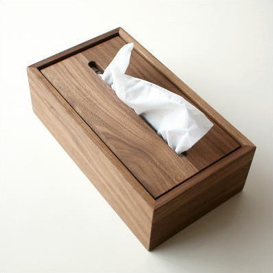 Natural Wood Tissue Fashionable Box Cover Wooden Simple Stylish Case Fashion