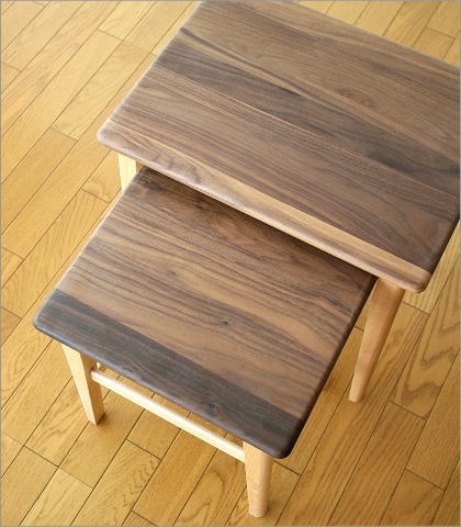 Nest Of Tables Side Table Wood Walnut Beach Natural Solid Sofa Sofaer Said Coffee Cafe Bedside Stylish Simple