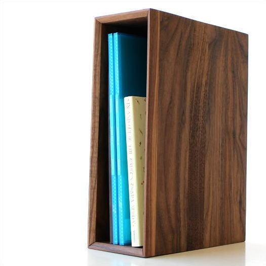 ファイルボックス 木製 A4 縦 ファイルスタンド おしゃれ ファイル収納 ファイルラック 卓上 机上 ボックスファイル 縦型 縦置き 横置き 茶色 ブラウン 木目 天然木 無垢材 シンプル インテリア 書類整理 ナチュラルウッドのアーカイブボックス ウォルナット