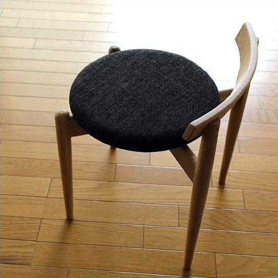 丸椅子 丸いす 木製 イス スタッキング チェア チェアー 無垢材 ナチュラルウッドのラウンドスツール オーク