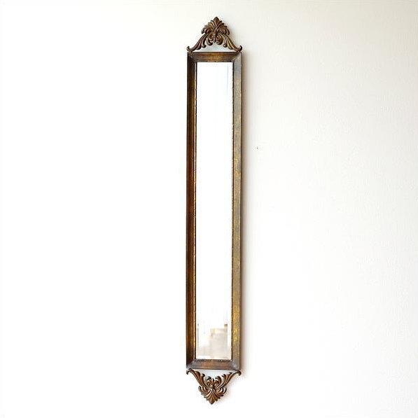 鏡 壁掛けミラー アンティーク レトロ おしゃれ ウォールミラー 縦長 全身 姿見 エレガント クラシック ヨーロピアン アイアン (アウトレット)ロングミラー