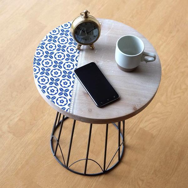 アイアンとライトウッドのテーブル ウッドテーブル おしゃれ 丸 かわいい マーケティング 天然木 北欧 アイアン 補助テーブル ソファーサイド ガーデンテーブル 期間限定特価品 花柄 ベッドサイド レトロ インテリア ベランダ