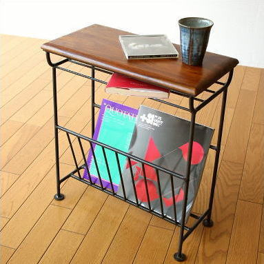 Table With Magazine Rack Fashionable Slim Magazine Stand Magazine Interior  Ian Natural Wooden Storage Furniture Side Table Newspapers Put Antique  Retro ...