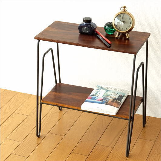Side Table Wood Iron Shelf Shelf Sofas Aid Table Nightstand Bedside Table  Simple Slim Natural Modern Side Table Nightstand Bedside Table Wood Side  Tables ...