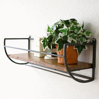 quality design 67a58 2e63f Wall shelves wooden iron wall shelf natural wood wall rack tool hanger  fashion simple retro-modern interior sea shame wall rack with hangers