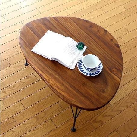 ローテーブル 天然木 木製 無垢材 アイアン おしゃれ リビングテーブル センターテーブル ローテーブル コーヒーテーブル ウッド カフェテーブル アジアン シンプル ナチュラル 木製ローテーブル リビングテーブル 完成品 送料無料 シーシャムオーバルローテーブル
