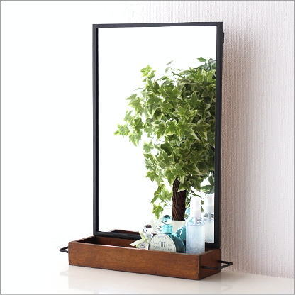 mirror with shelf. wall mirror shelf rack iron wooden antique modern retro simple with r