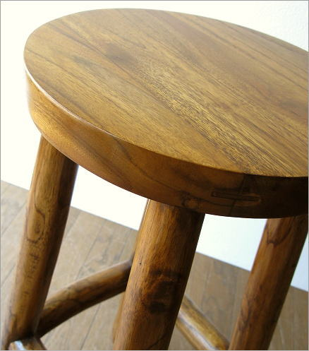 hakusan teak solid wood wooden stool history backless counter stool