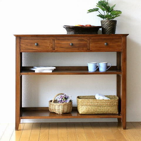 hakusan | Rakuten Global Market: Console table wood cabinet slim ...