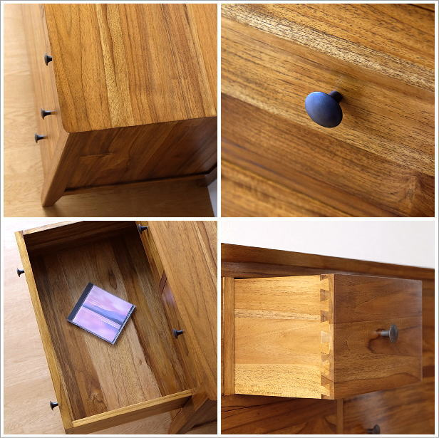 Chest Drawer Chest Antique Wind Finished Product Teak Wide Chest 120 For Three Steps Of Cabinet Clothes Chest Natural Wooden Wardrobe Rearranging