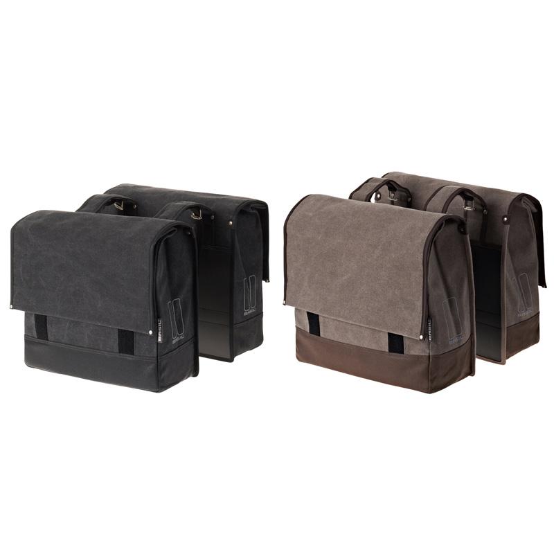 【P最大17倍(11/16 10時まで/エントリ含)】URBAN FOLD DOUBLE BAG(アーバンフォルドダブルバッグ)BASIL(バシル)リアキャリアに取り付け荷物を搭載パニアバッグ