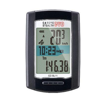 【最大1200円オフクーポン(7/6 10時まで)】【GPS規格対応スピードセンサーレスモデル】CAT EYE(キャットアイ)ステルス EVO(CC-GL11)スピードメーター・サイクルコンピュータ
