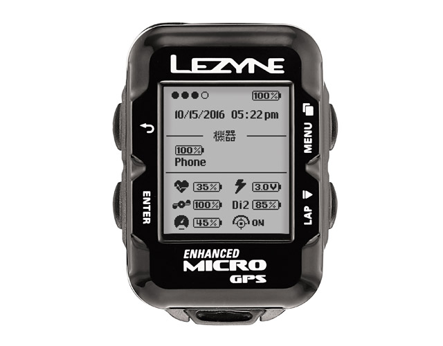 【最大1200円クーポン(4/8 10時まで)】MICRO GPS(マイクロGPS)【わずか29g 超コンパクトGPS内蔵サイクルコンピューター】LEZYNE(レザイン)スピードメーター・サイクルコンピュータ