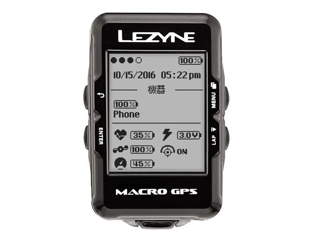 MACRO GPS(マクロGPS)【Bluetooth smart対応GPS内蔵サイクルコンピューター】LEZYNE(レザイン)スピードメーター・サイクルコンピュータ